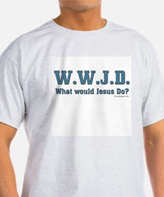 WWJD - Christian Ash Grey T-Shirt