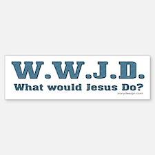 WWJD - Christian Bumper Bumper Bumper Sticker