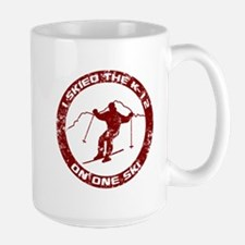 I Skied The K-12 On One Ski Mug