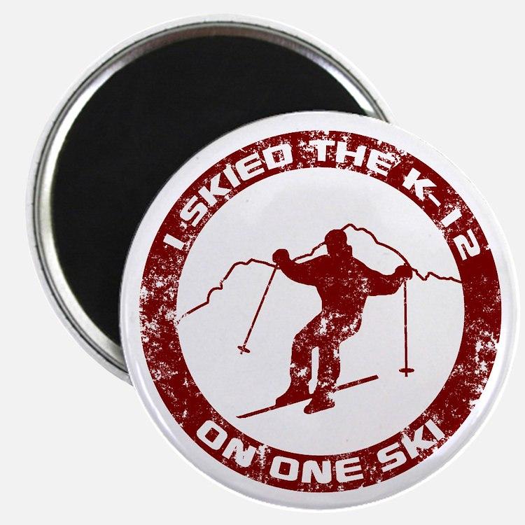 I Skied The K-12 On One Ski Magnet