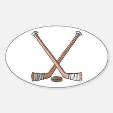 Hockey Sticks Oval Decal