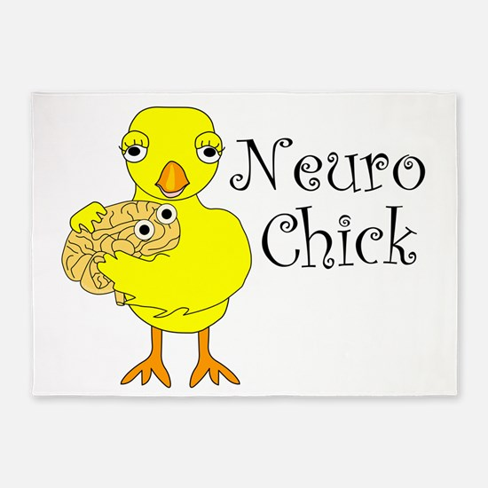 Neuro Chick 5'x7'Area Rug