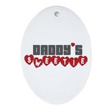 Daddy's Sweetie Oval Ornament