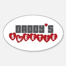 Daddy's Sweetie Oval Decal