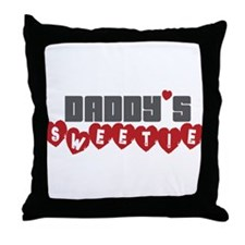 Daddy's Sweetie Throw Pillow