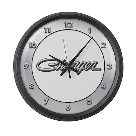 Charger Logo Large Wall Clock