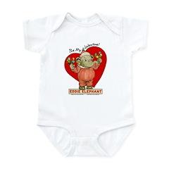 Eddie Elephant VALENTINE Infant Bodysuit