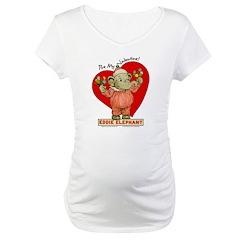 Eddie Elephant VALENTINE Maternity T-Shirt