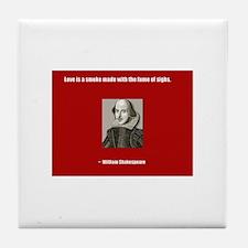 Shakespeare Love Quote Tile Coaster