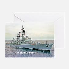 USS PREBLE Greeting Card