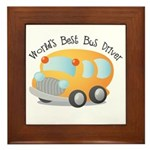 World's Best Bus Driver Framed Tile