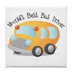 World's Best Bus Driver Tile Coaster