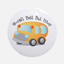 World's Best Bus Driver Ornament (Round)