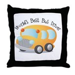 World's Best Bus Driver Throw Pillow