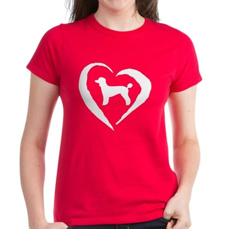 Poodle Heart Women's Dark T-Shirt