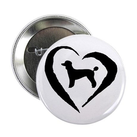 """Poodle Heart 2.25"""" Button (10 pack)"""