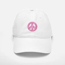 Peace in Pink Baseball Baseball Cap