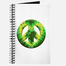 Green Yellow Tie Dye Journal