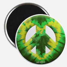 Green Yellow Tie Dye Magnet