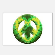 Green Yellow Tie Dye Postcards (Package of 8)