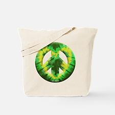 Green Yellow Tie Dye Tote Bag