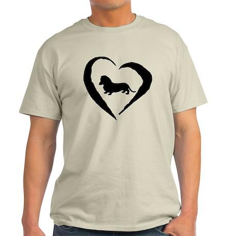 Mini Dachshund Heart Light T-Shirt