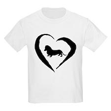 Mini Dachshund Heart T-Shirt