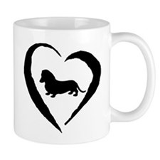 Mini Dachshund Heart Mug