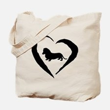 Mini Dachshund Heart Tote Bag
