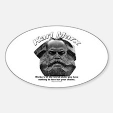 Karl Marx 03 Oval Decal