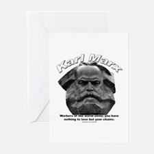 Karl Marx 03 Greeting Cards (Pk of 10)