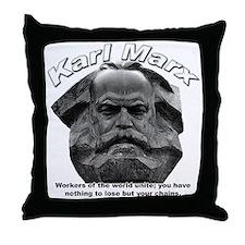 Karl Marx 03 Throw Pillow