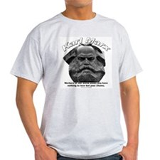 Karl Marx 03 Ash Grey T-Shirt
