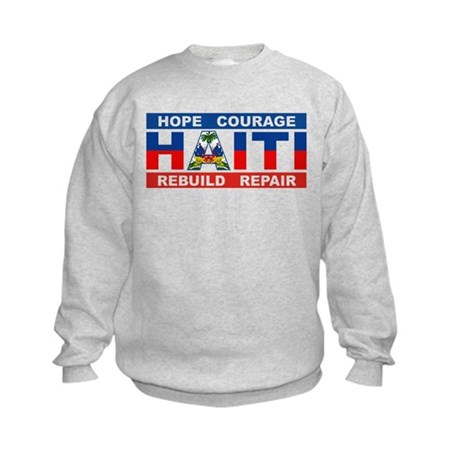 Hope Courage Haiti Kids Sweatshirt