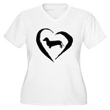 Dachshund Heart T-Shirt