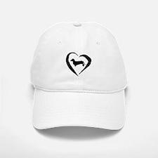 Dachshund Heart Baseball Baseball Cap