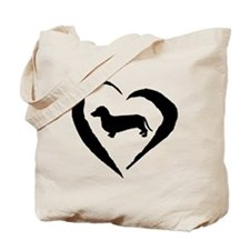 Dachshund Heart Tote Bag