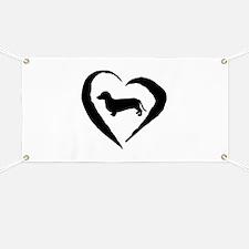 Dachshund Heart Banner
