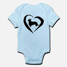 Cardigan Heart Infant Bodysuit