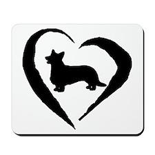 Cardigan Heart Mousepad