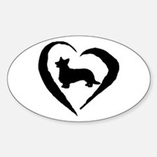 Cardigan Heart Oval Decal