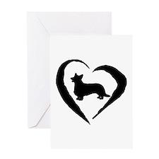 Cardigan Heart Greeting Card