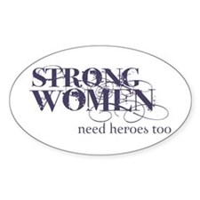 Strong Women Oval Decal