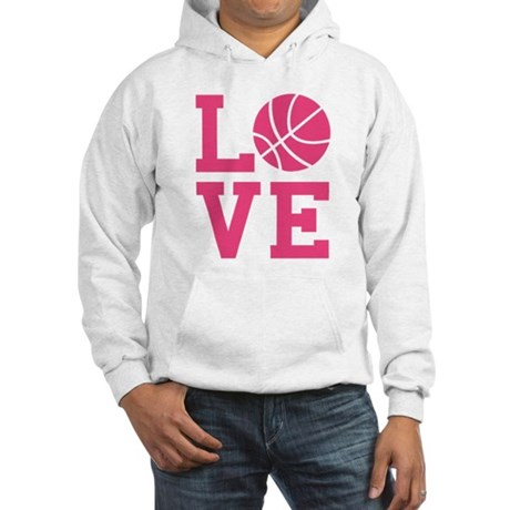 Love Basketball White or Grey Hooded Sweatshirt