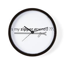 Cute Opened zipper Wall Clock