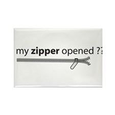Cute Opened zipper Rectangle Magnet