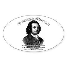 George Mason 03 Oval Decal