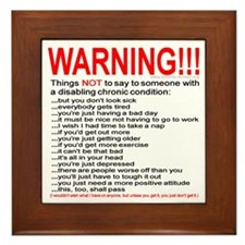 Chronic Condition Warning Framed Tile