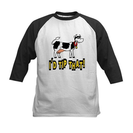 I'd Tip That Cow Kids Baseball Jersey
