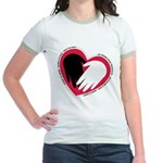 Hearts and Hands Jr. Ringer T-Shirt